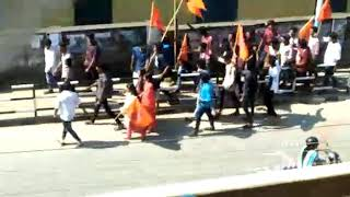 Fighting between bjp(rss)and cpi(sfi) in kerala