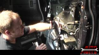 2004 Nissan Titan Armada QX56 Window Motor How To Remove Replace Repair Part 2