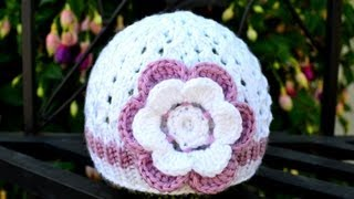 Download How to Crochet a Flower for a Baby Hat 3Gp Mp4