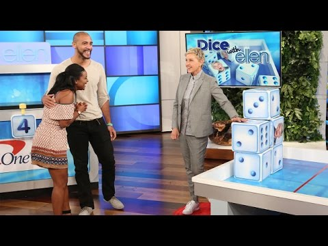 A Cute Couple Plays Dice with Ellen