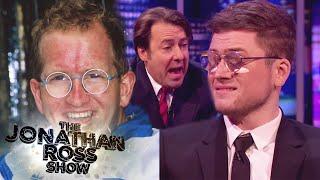 Taron Egerton Shows The Eddie 'The Eagle' Look - The Jonathan Ross Show