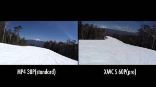 HDR-AS100V MP4 vs XAVC S カメラテスト