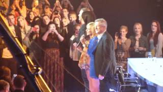 x factor auditions liverpool 23.5.12. the judges entering the arena