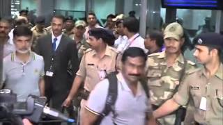 Pakistan cricket team arrive in India amid tight security