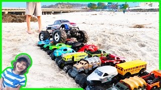 RC Monster Truck CRUSHES Toy Monster Trucks!💥