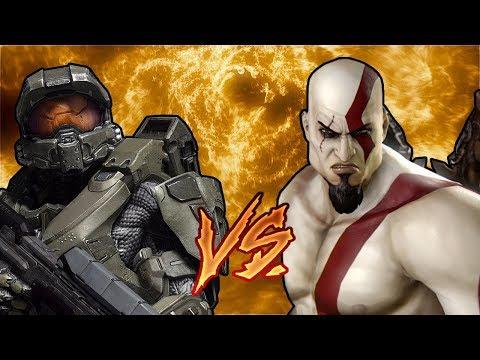 Halo VS God Of War Jefe Maestro Vs Kratos Épicas Batallas De Rap Del Frikismo