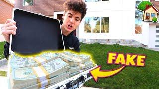 BUYING MY DREAM HOUSE WITH FAKE $1 MILLION PRANK (Will it Work?) | David Vlas