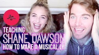TEACHING SHANE DAWSON HOW TO MAKE A MUSICAL.LY | Baby Ariel