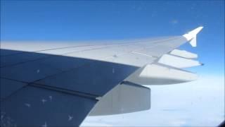 Lufthansa A380 Turbulence over the Atlantic Ocean