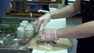 Making a Chicken Wrap