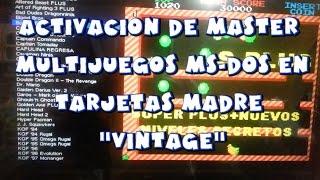MASTER MULTIJUEGOS MS-DOS EN TARJETAS