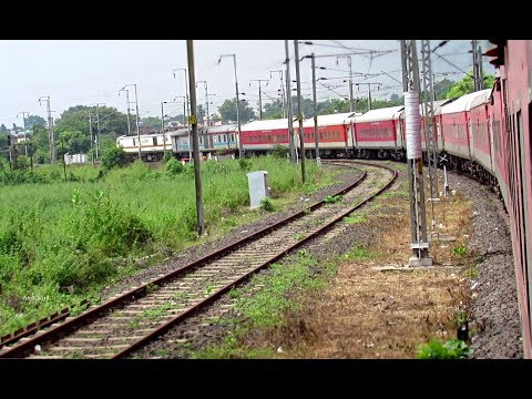Xxx Mp4 WAP7 BANGALORE RAJDHANI EXPRESS Train Taking Huge Turn At Sewagram Indian Railways 3gp Sex