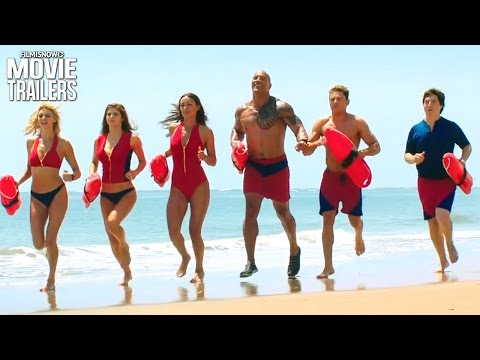 BAYWATCH 2017 Dwayne Johnson & Zac Efron are in Lifeguard pursuit