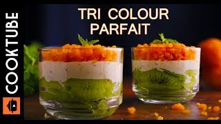 Tri Colour Parfait Recipe | Independence Day Special Recipes