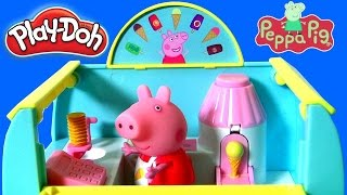PLAY DOH Peppa's Ice Cream Van Playset from Nickelodeon Peppa Pig Learn to Make Ice Cream Cones