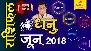 DHANU Rashi |Sagittarius| Predictions for JUNE- 2018 Rashifal | Monthly Horoscope | Suresh Shrimali