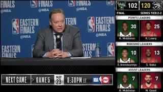 Mike Budenholzer postgame reaction | Raptors vs Bucks Game 4 | 2019 NBA Playoffs