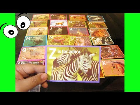 Learn The Alphabet, Name of Animals using Picture Flashcards, Nursery Rhymes for kdis