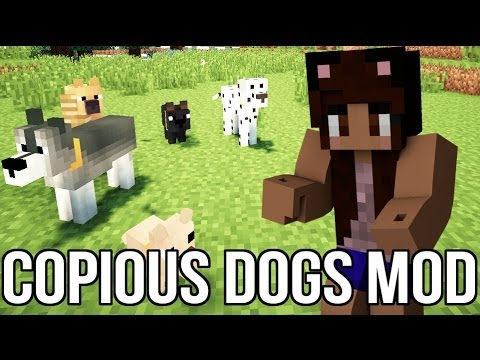 Minecraft: Copious Dogs Mod 1.6.4 (Dogs & Puppies in Minecraft) | Mod Showcase