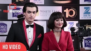 Mohsin Khan and Shivangi Joshi at Boroplus 10th Gold Awards 2017 | Zee Tv