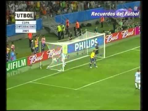 Finl Copa Confederaciones 2005 Argentina Brasil Relato Closs