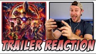 Avengers: Infinity War Trailer 2 Reaction  (Journey to Marvel's Infinity War w/Thanos )