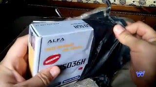 وصول لاقط ويفي ألفا alpha wifi من aliexpress
