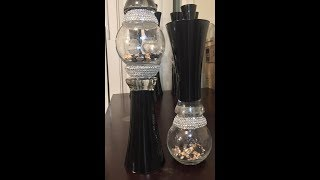 Wedding Vlog Series: Beautiful Stone Accented Vases. 5.00 to make!