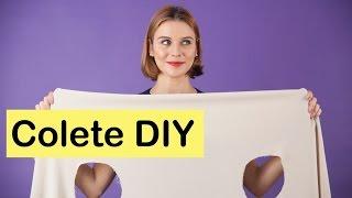 Como fazer um colete usando um pedaço de tecido?