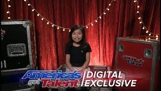 Singer Celine Tam Relives Her First AGT Performance - America's Got Talent 2017