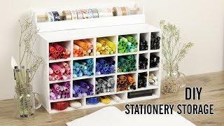 DIY Stationery Organizer | Bullet Journaling Supplies
