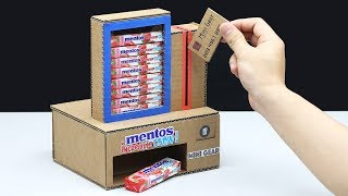 How to Make Vending Machine with mentos incredible CHEW!