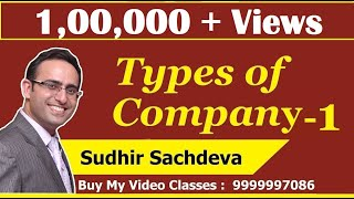 Introduction to Types of Companies as per Companies Act 2013 (Part-1)