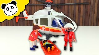 ⭕ PLAYMOBIL Rettungs Helikopter 🚁 Spielzeug ausgepackt & angespielt 🚨  Pandido TV
