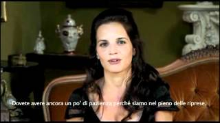 Videosaluto di Sabrina Garciarena dal set di Terra Ribelle 2