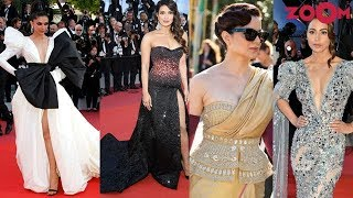 Deepika, Priyanka, Kangana & Hina on the red carpet of Cannes Film Festival 2019