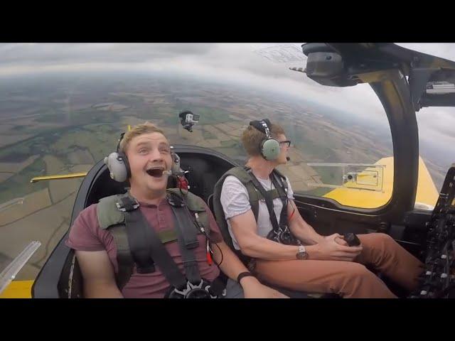 Hilarious G-force reaction