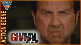 Ghayal Once Again Hindi Movie || Sunny Deol  Attacks Narendra With Helicopter || Sunny Deol