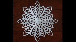 Paper snow flake challenge - Detailed tutorial -Advanced level/Can YOU do it?