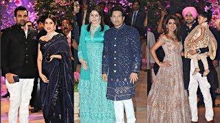 Indian Cricketers And Their Wives At Akash Ambani And Shloka Mehta Engagement Party
