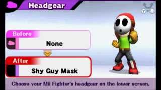 Super Smash Bros. (3DS) - All Mii Headgear