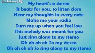 Glee - Stereo Hearts (HQ Audio) - Lyrics