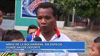 Aunque hay niños futbolistas no hay cancha en el barrio La Bolivariana