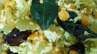 Pudalangai Poriyal  recipe in Tamil by AARTHI CAFE  Recipe No 92
