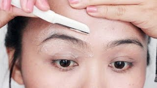 How I Shave My Eyebrows | DIY Clean Brows At Home | EASY & PAINLESS