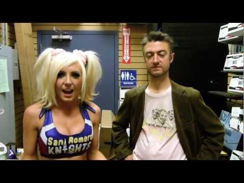 Xxx Mp4 Juliet Starling And Sean Gunn At The Lollipop Chainsaw Launch 3gp Sex