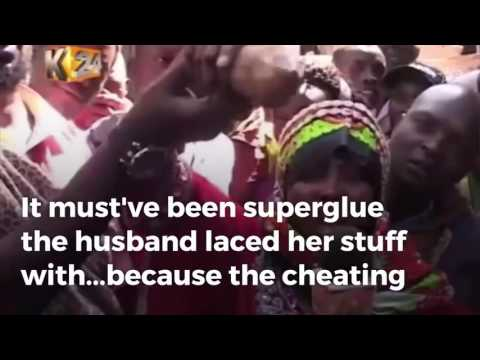 Cheating Woman Stuck To Sex Partner