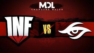 Infamous vs Team Secret Game 2 - MDL Major 2018: Group Stage - @Lyrical @Lacoste