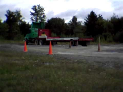 How to do a Perfect CDL Alley Dock. Instruction for Class A Alley Dock Manuever