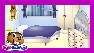 """""""In the Bedroom"""" (Level 1 English Lesson 22) CLIP - Learn English Words, Bedroom Words in English"""